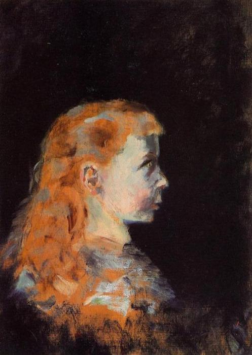 Portrait of a Child, Oil On Panel by Henri De Toulouse Lautrec (1864-1901, France)