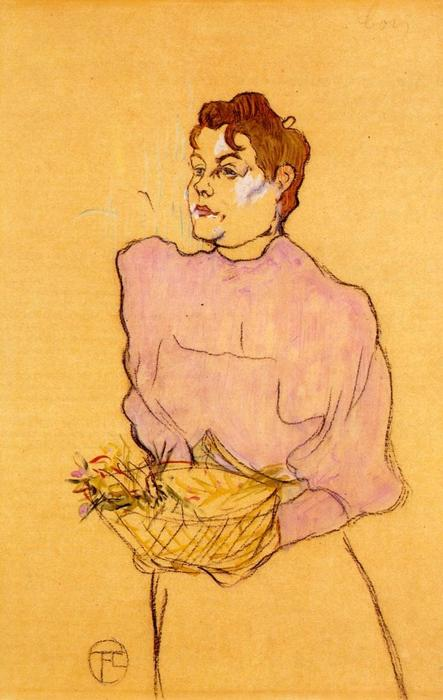 The Flower Seller, 1894 by Henri De Toulouse Lautrec (1864-1901, France)