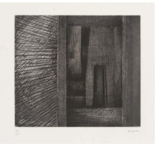 Architecture Doorway, Drawing by Henry Moore (1898-1986, United Kingdom)