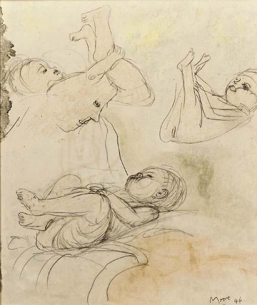 Drawings of the Artist`s Daughter, Mary by Henry Moore (1898-1986, United Kingdom) | Art Reproduction | ArtsDot.com