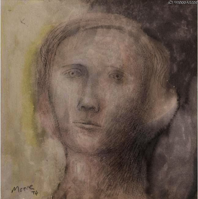 Dream Head, Drawing by Henry Moore (1898-1986, United Kingdom)