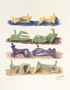 Henry Moore - Eight Reclining Figures 2