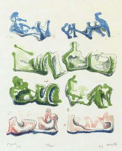 Henry Moore - Eight Reclining Figures 4