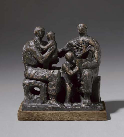 Family Group 2, Oil by Henry Moore (1898-1986, United Kingdom)