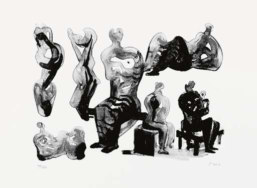 Ideas for Sculpture 3 by Henry Moore (1898-1986, United Kingdom) | Painting Copy | ArtsDot.com