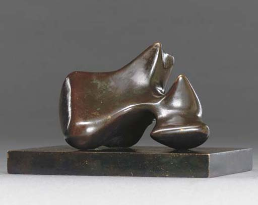 Maquette for carving; Points, Engraving by Henry Moore (1898-1986, United Kingdom)