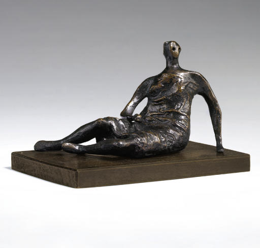Maquette for Draped Reclining Woman, Illustration by Henry Moore (1898-1986, United Kingdom)