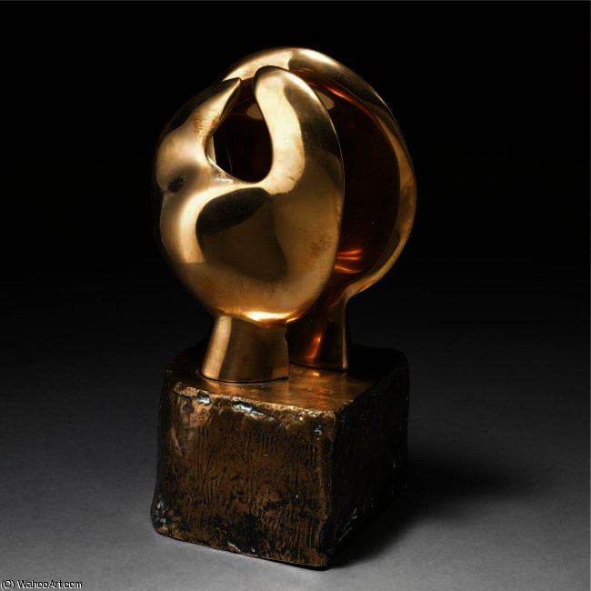 Maquette For Head And Hand, Oil by Henry Moore (1898-1986, United Kingdom)