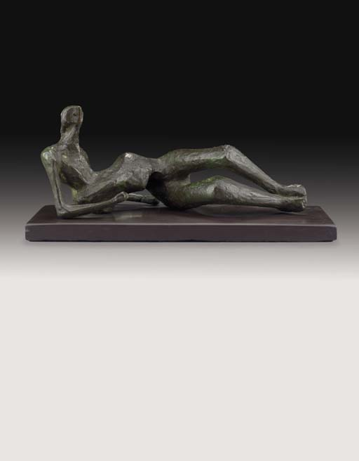 Maquette for Reclining Figure No. 2, Oil by Henry Moore (1898-1986, United Kingdom)