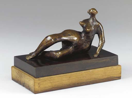 Maquette for Reclining Figure No. 7, Oil by Henry Moore (1898-1986, United Kingdom)