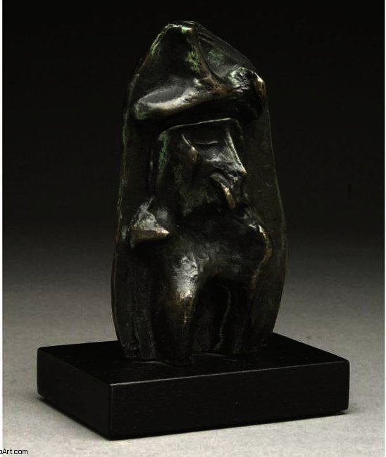 Maquette For Relief No.1, Illustration by Henry Moore (1898-1986, United Kingdom)