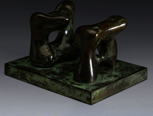 Maquette for Two Large Forms, Illustration by Henry Moore (1898-1986, United Kingdom)