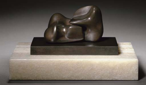 Maquette for Two Piece Sculpture No. 10 (Interlocking), Illustration by Henry Moore (1898-1986, United Kingdom)