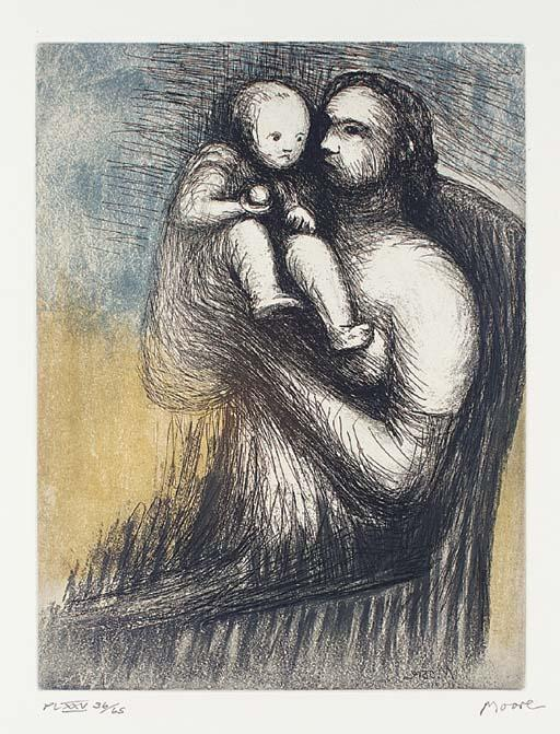 Mother and Child 3 by Henry Moore (1898-1986, United Kingdom) | Art Reproduction | ArtsDot.com