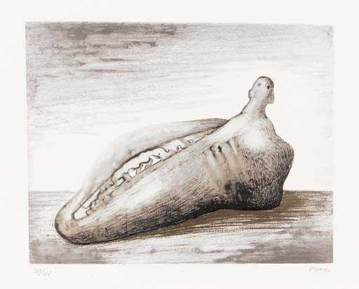 Opening Form I, Drawing by Henry Moore  (order Fine Art fine art print Henry Moore)