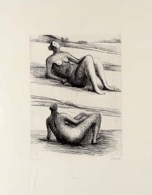 Plate from Requiem pour la Fin des Temps, Drawing by Henry Moore (1898-1986, United Kingdom)