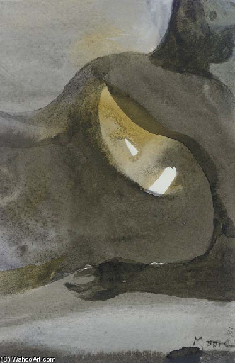 Reclining Figure 2, Oil by Henry Moore (1898-1986, United Kingdom)