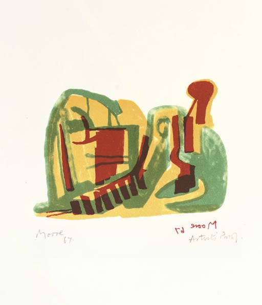 Reclining Figure 2 by Henry Moore (1898-1986, United Kingdom) | Museum Art Reproductions | ArtsDot.com