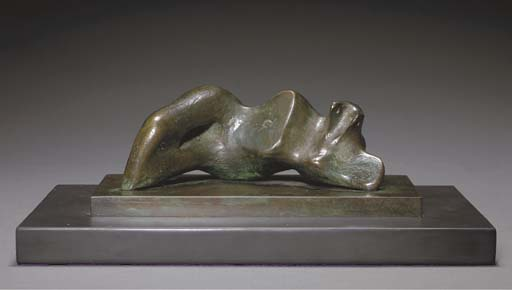 Reclining Figure; Umbilicus, Engraving by Henry Moore (1898-1986, United Kingdom)