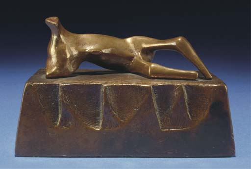 Reclining Figure; Wedge Base, Illustration by Henry Moore (1898-1986, United Kingdom)