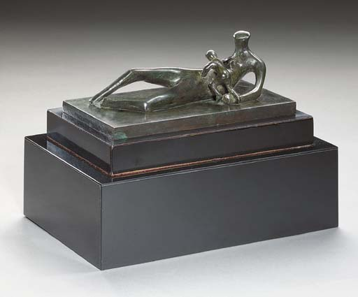 Reclining Mother and Child IV, Illustration by Henry Moore (1898-1986, United Kingdom)