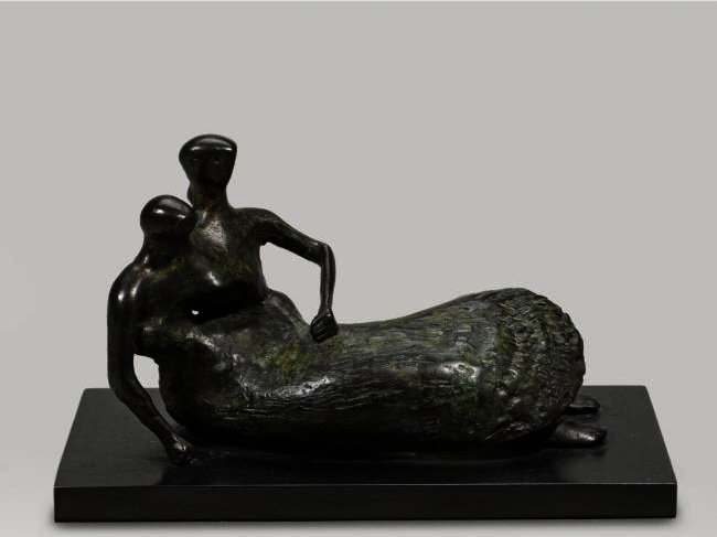 Reclining Mother And Child; Shell Skirt by Henry Moore (1898-1986, United Kingdom) | Painting Copy | ArtsDot.com