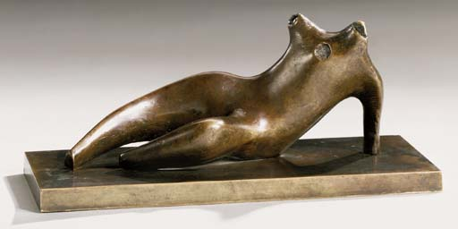 Reclining torso, Oil by Henry Moore (1898-1986, United Kingdom)