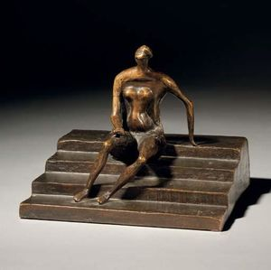 Henry Moore - Seated figure on square s..