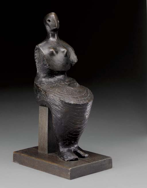 Seated Figure; Armless, Illustration by Henry Moore (1898-1986, United Kingdom)