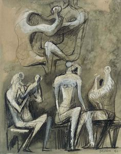 Henry Moore - Seated Figures 1