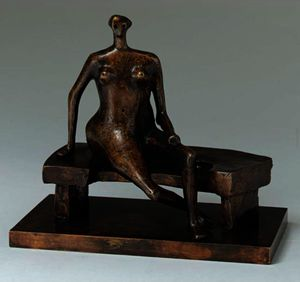 Henry Moore - Seated Woman With Crossed Feet