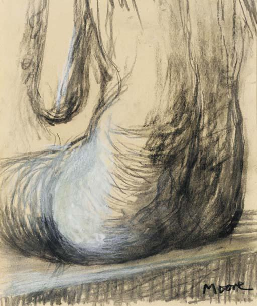 Seated Woman, Torso, Oil by Henry Moore (1898-1986, United Kingdom)