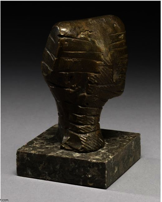 Small Head; Strata, Oil by Henry Moore (1898-1986, United Kingdom)