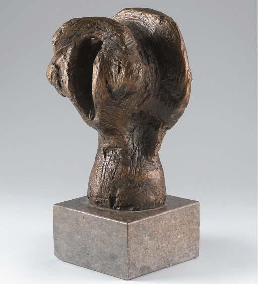 Study for head of Warrior, Illustration by Henry Moore (1898-1986, United Kingdom)