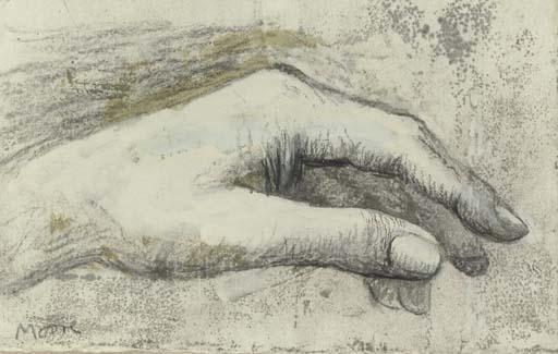 The Artist's Left Hand, Oil by Henry Moore (1898-1986, United Kingdom)