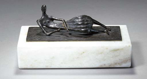 Thin Reclining Figure, Illustration by Henry Moore (1898-1986, United Kingdom)