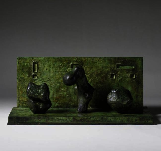 Three Motives Against A Wall, No. 2, Illustration by Henry Moore (1898-1986, United Kingdom)