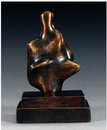 Three-Quarter Figure; Points by Henry Moore (1898-1986, United Kingdom) | Museum Quality Reproductions | ArtsDot.com