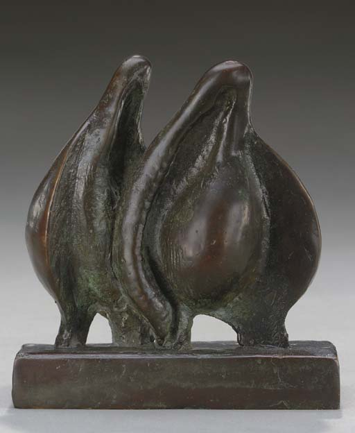 Twins, Oil by Henry Moore (1898-1986, United Kingdom)