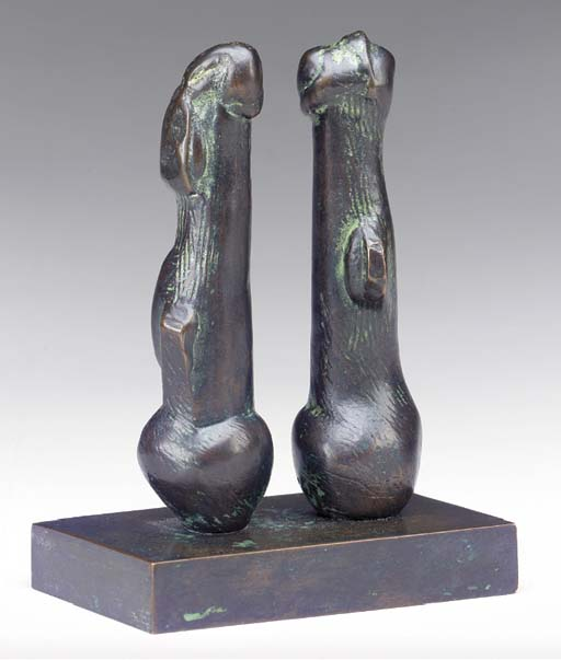 Two Bulb Forms, Illustration by Henry Moore (1898-1986, United Kingdom)