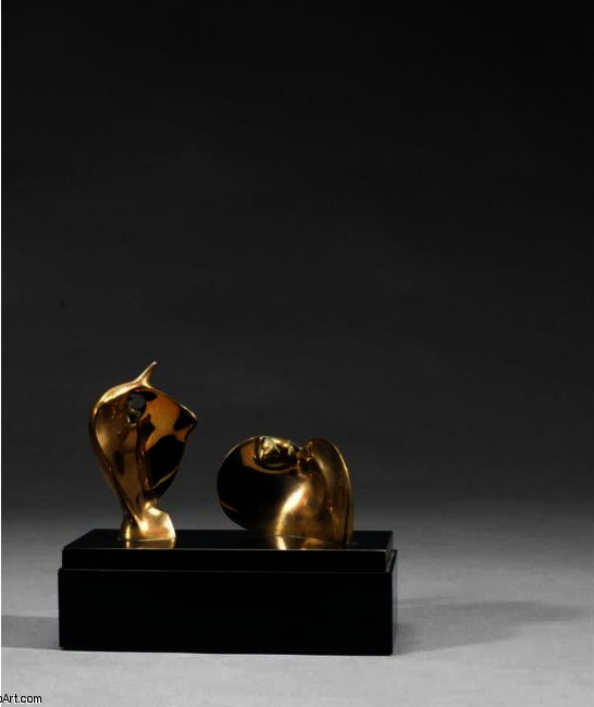 Two Piece Reclining Figure; Double Circle by Henry Moore (1898-1986, United Kingdom) | Art Reproduction | ArtsDot.com