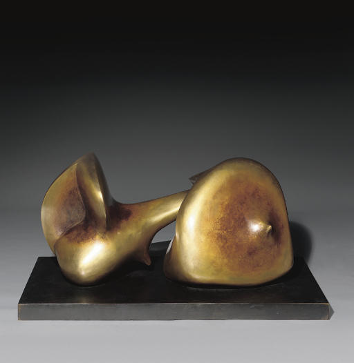 Two Piece Sculpture No. 7; Pipe, Illustration by Henry Moore (1898-1986, United Kingdom)