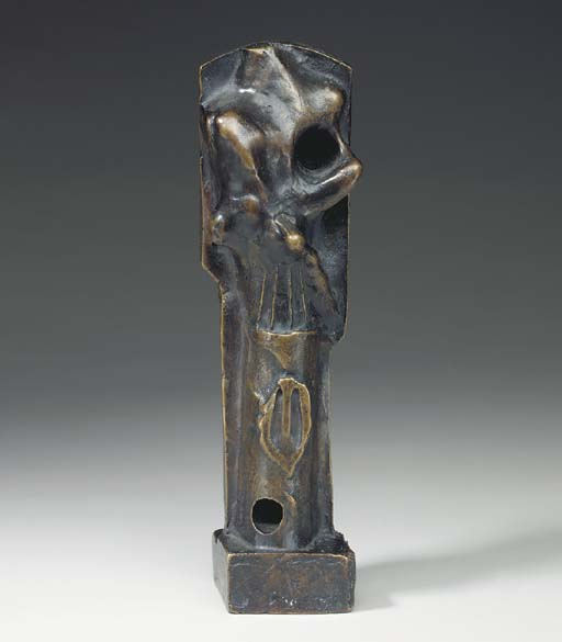 Upright Motive. Maquette No. 3, Sculpture by Henry Moore (1898-1986, United Kingdom)