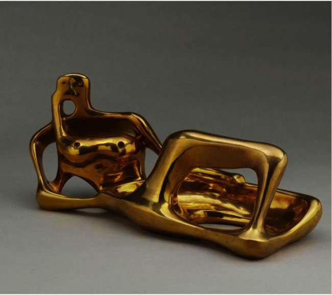 Working Model For Reclining Figure, Oil by Henry Moore (1898-1986, United Kingdom)