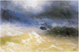 Ivan Aivazovsky - Hurricane on a sea