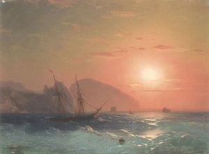 Ivan Aivazovsky - View Of The Ayu Dag, Crimea