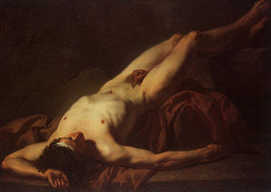 Jacques Louis David - Nude Study of Hector