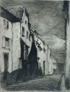 James Abbott Mcneill Whistler - Street at Saverne
