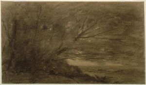 Jean Baptiste Camille Corot - Landscape (The Large Tree)