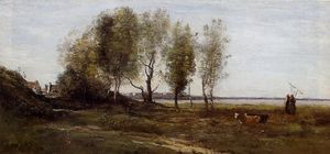 Jean Baptiste Camille Corot - The Bay of Somme